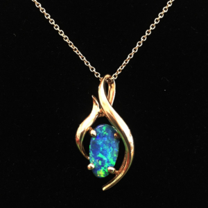 Beautiful opal necklace - Green Acres Antiques Marietta OH