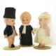 Vintage Celluloid Kewpie Doll Wedding Set (w/glass box) - Green Acres Antiques Marietta OH