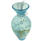 Beautiful Hand Painted Turquoise Vase - Green Acres Antiques Marietta OH