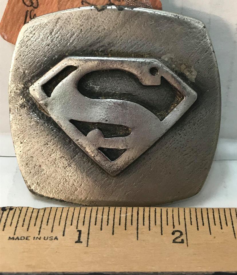 Vintage Superman Belt Buckle